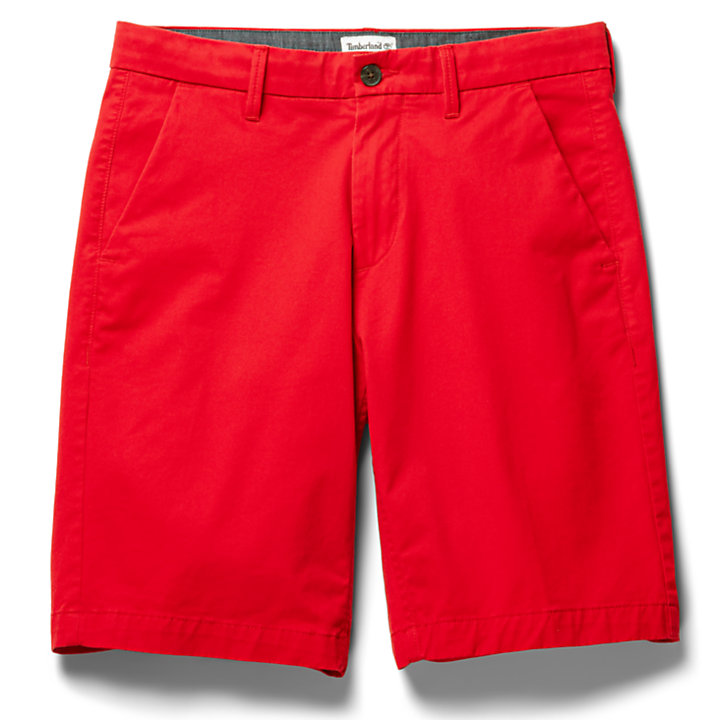 Short chino stretch Squam Lake pour homme en rouge-