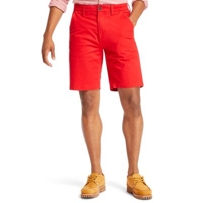 Short+chino+stretch+Squam+Lake+pour+homme+en+rouge