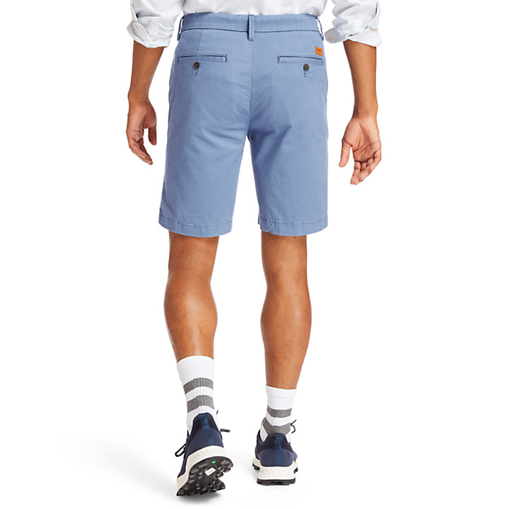 Short chino stretch Squam Lake pour homme en bleu-