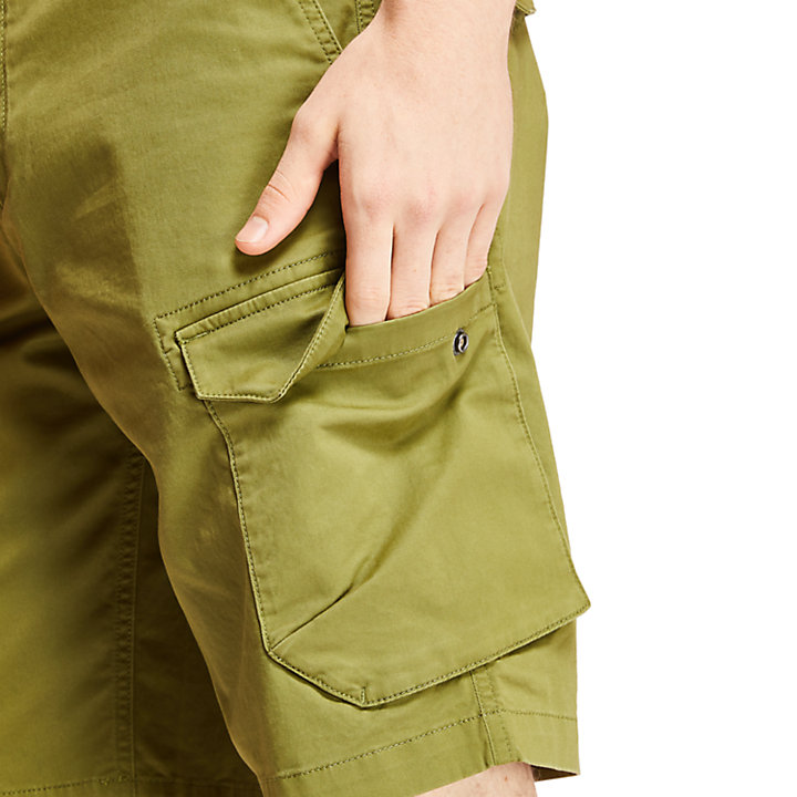 Tarleton Lake Cargo Shorts for Men in Dark Green-