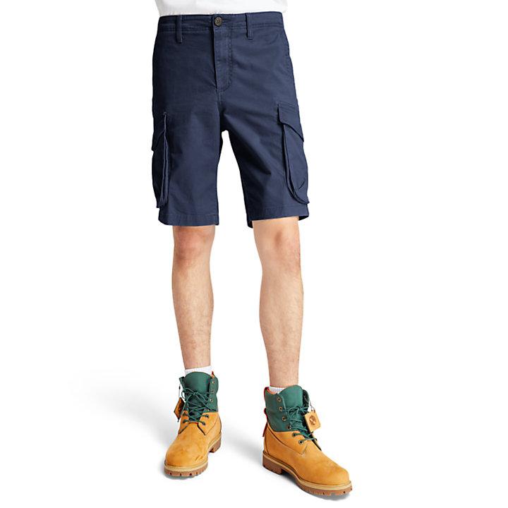 Tarleton Lake Stretch Cargo Shorts for Men in Navy-