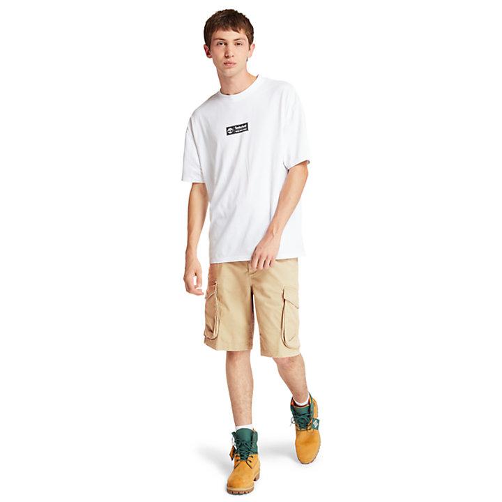 Tarleton Lake Stretch Cargo Shorts for Men in Khaki-