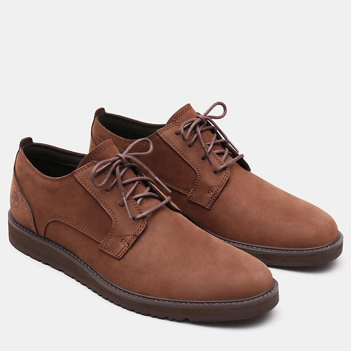 Wesley Falls Oxford for Men in Dark Brown-