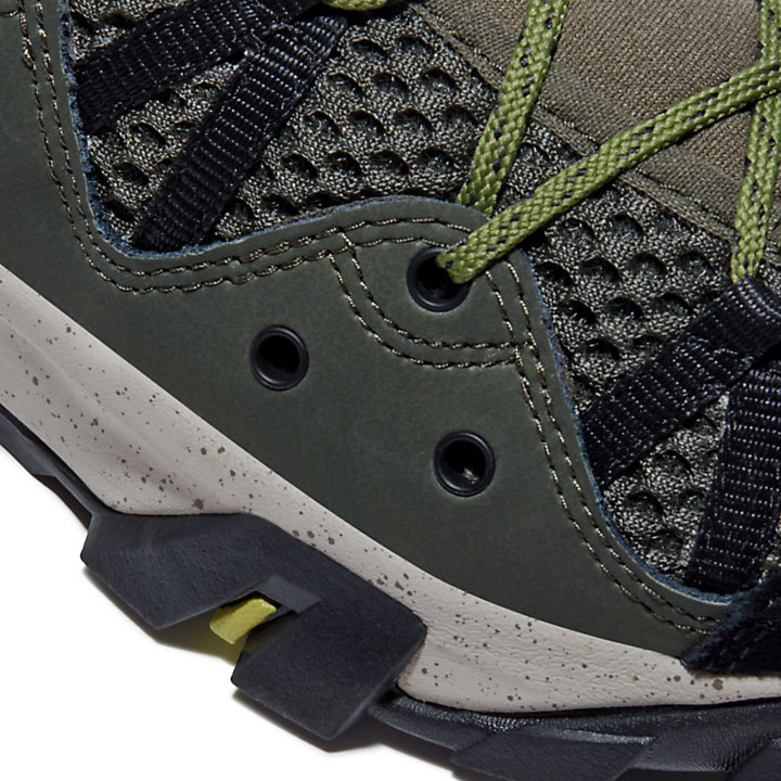 Zapatilla baja de senderismo Garrison Trail para Hombre en verde oscuro-