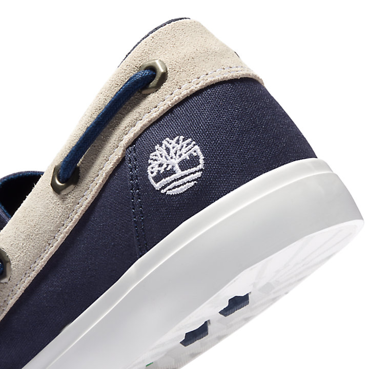 Union Wharf Boat Shoe for Men in Navy-