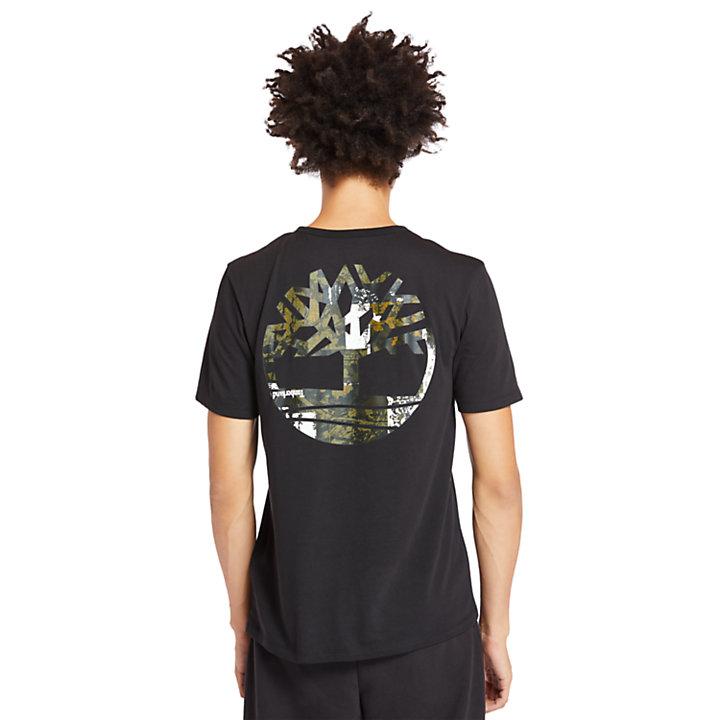 T-shirt da Uomo con Logo Mimetico in colore nero-