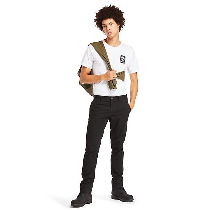 Camo Logo T-Shirt for Men in White-
