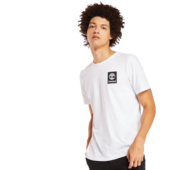 Camo Logo T-Shirt for Men in White | Timberland