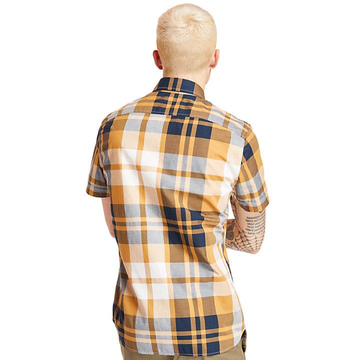 Camicia a Quadri da Uomo Eastham River in giallo-