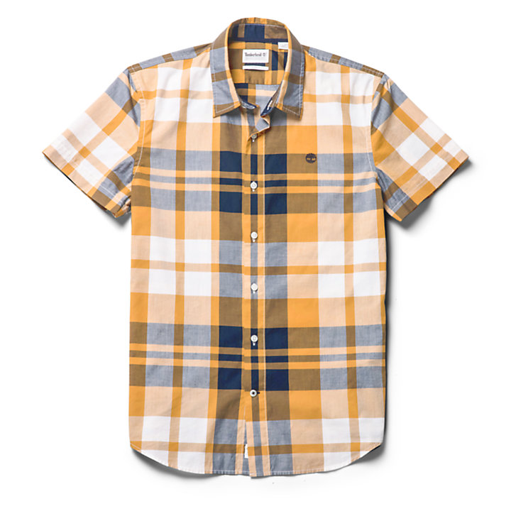 Eastham River Plaid Shirt for Men in Yellow-