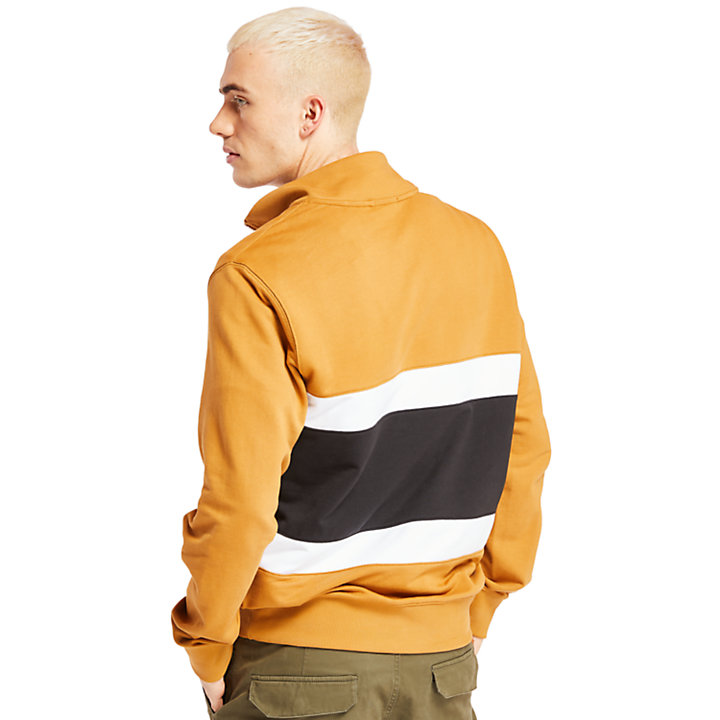 Funnel Neck Sweatshirt for Men in Yellow-