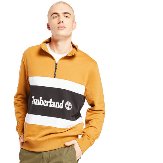 Funnel Neck Sweatshirt for Men in Yellow | Timberland