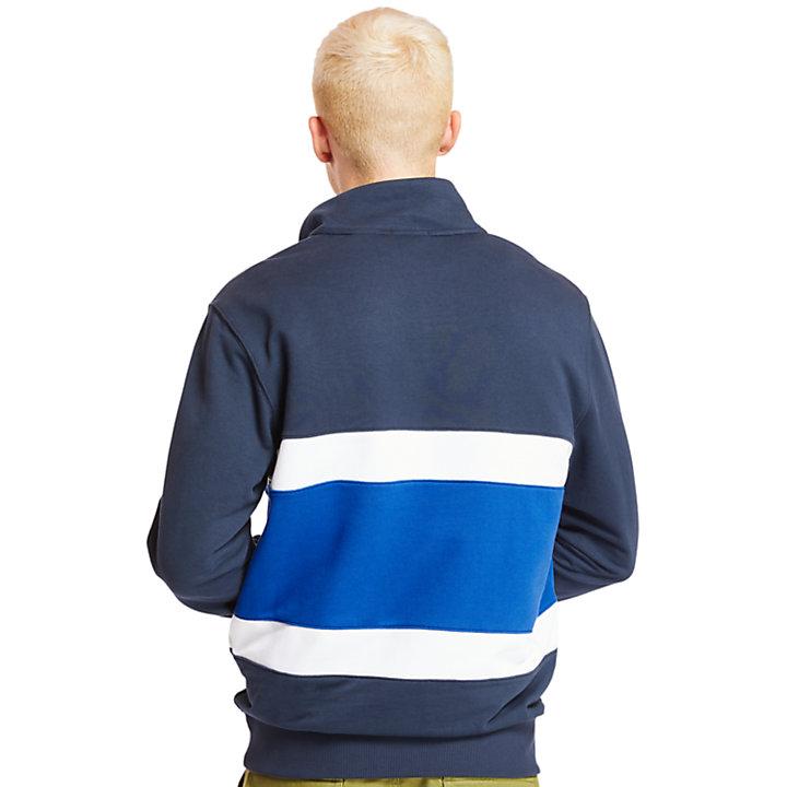 Felpa da Uomo con Collo a Imbuto in blu marino-