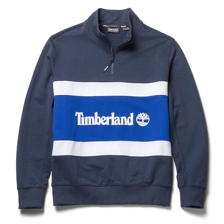 Funnel Neck Sweatshirt for Men in Navy-