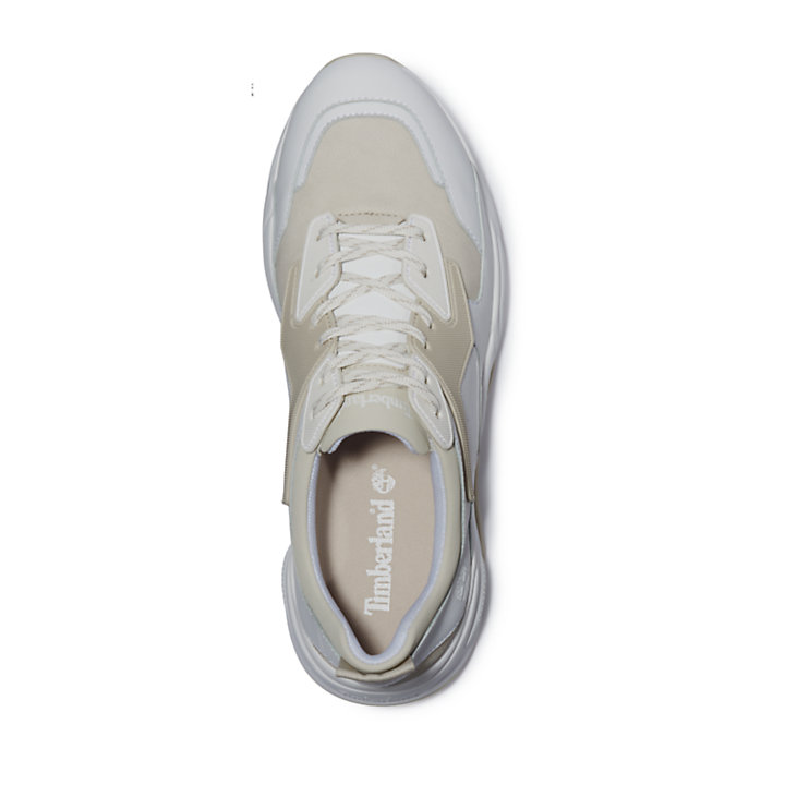 Delphiville Leather Sneaker for Women in White-