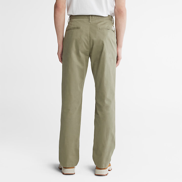 Pantaloni Chino da Uomo in Twill Squam Lake in verde-
