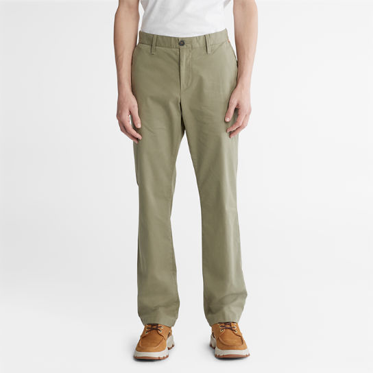 Pantaloni Chino da Uomo in Twill Squam Lake in verde | Timberland