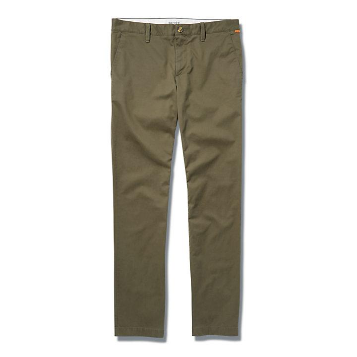 Squam Lake Straight-leg Stretch Chinos for Men in Dark Green-