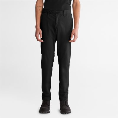 Pantaloni+Chino+Slim+da+Uomo+Squam+Lake+in+colore+nero