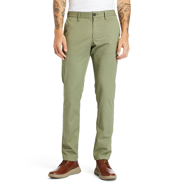 Squam Lake Slim Chinos for Men in Green-