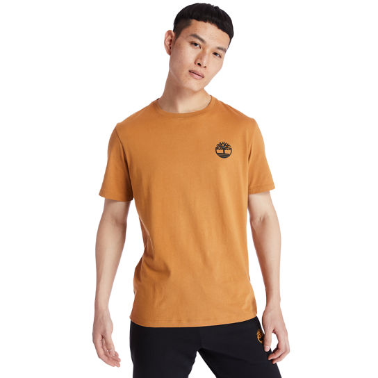 Back Tree Graphic T-Shirt for Men in Yellow | Timberland