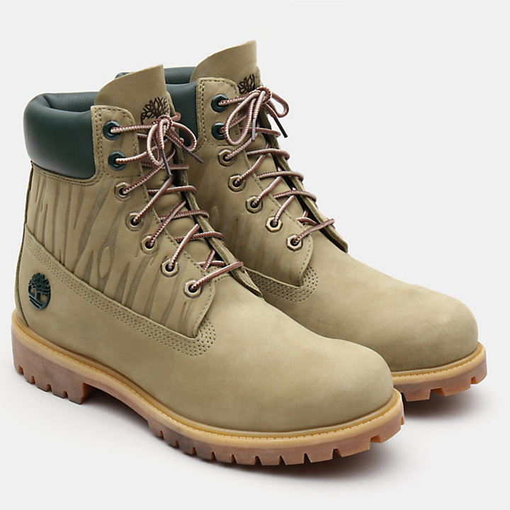 6 Inch Premium Autumn Boot for Men in Green-