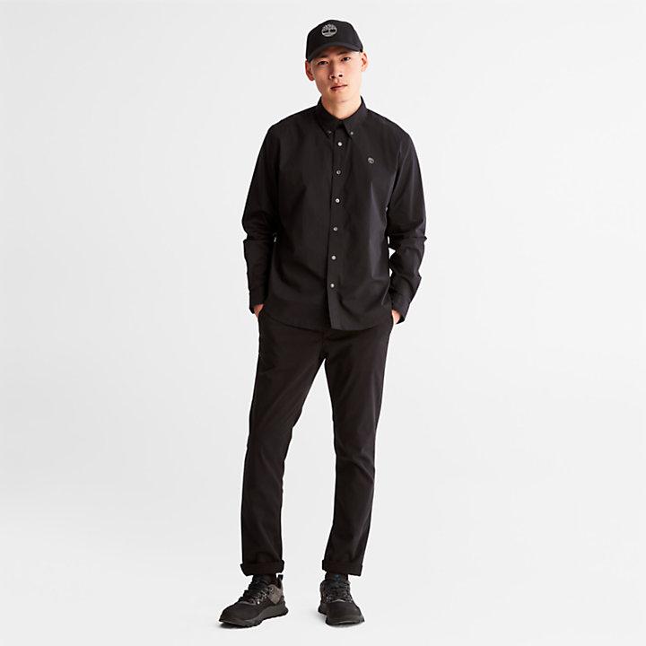 Camicia da Uomo in Popeline Saco River in colore nero-