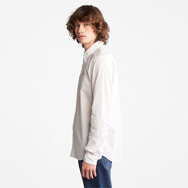 Chemise en popeline Saco River pour homme en blanc-