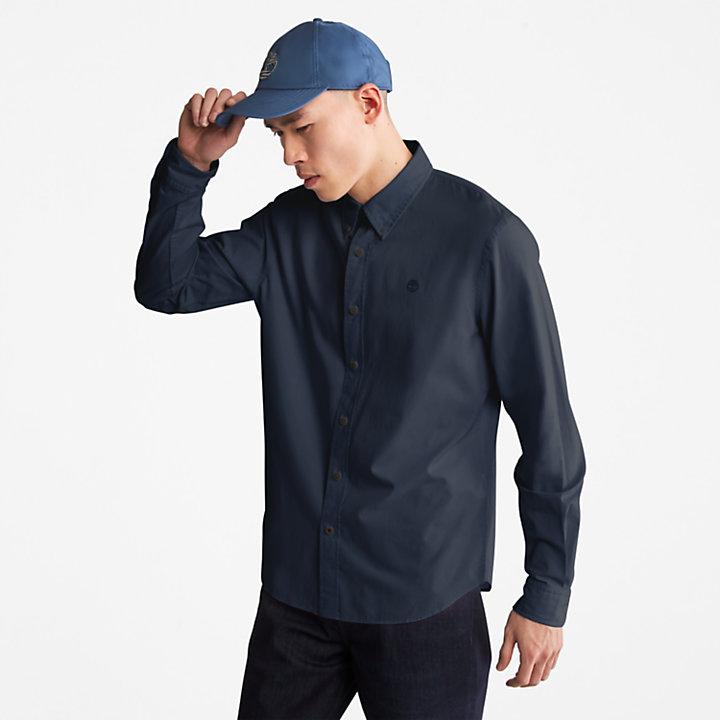 Camisa de Popelina Saco River para Hombre en azul marino-