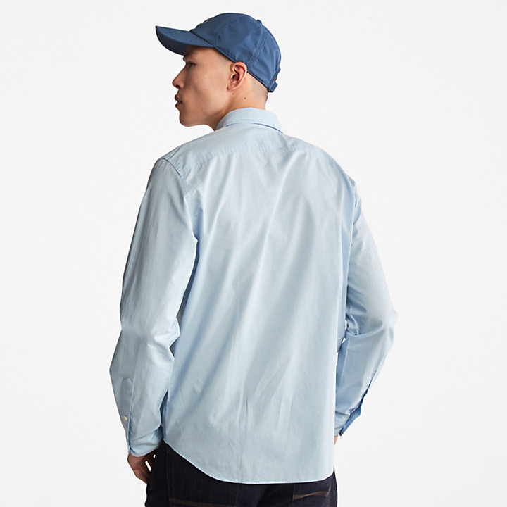 Saco River Poplin Shirt for Men in Light Blue-