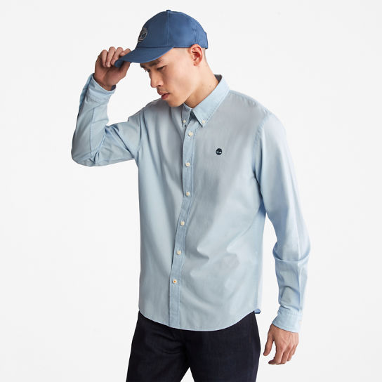 Saco River Poplin Shirt for Men in Light Blue | Timberland