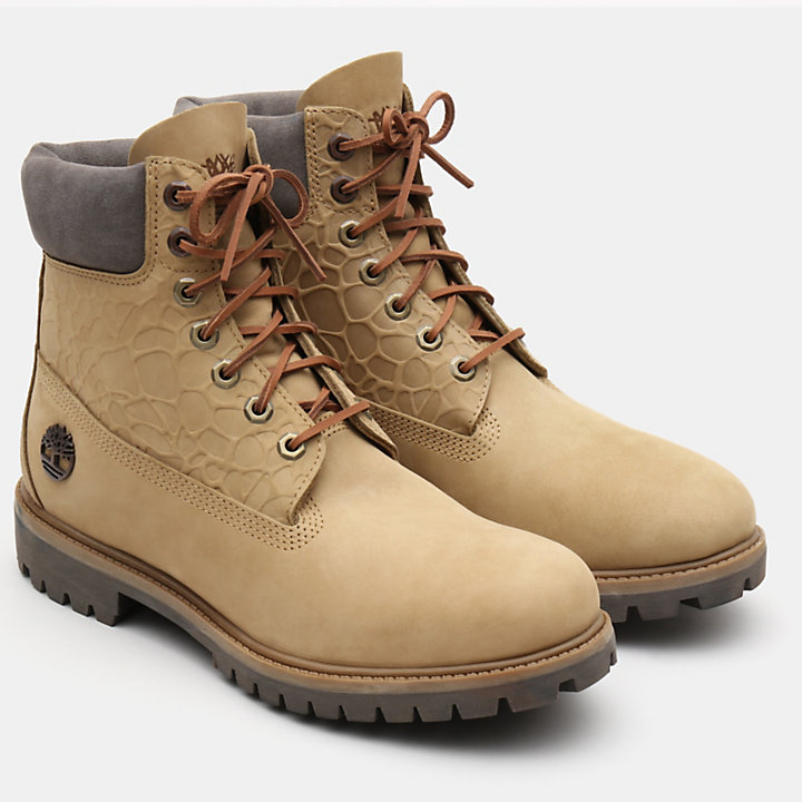 6 Inch Premium Autumn Boot for Men in Beige-