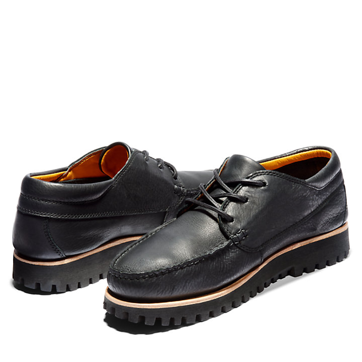 Jackson's Landing Moc Toe Oxford for Men in Black-