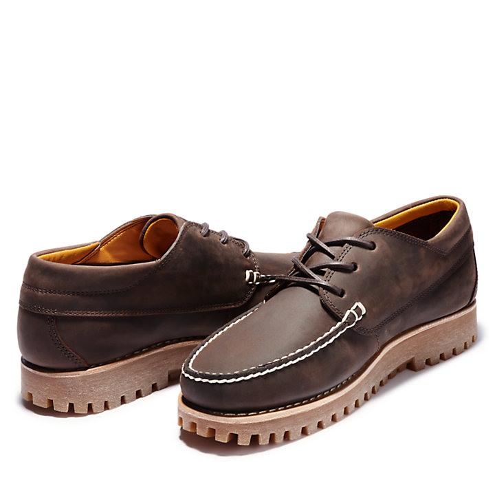 Jackson's Landing Moc Toe Oxford for Men in Dark Brown-