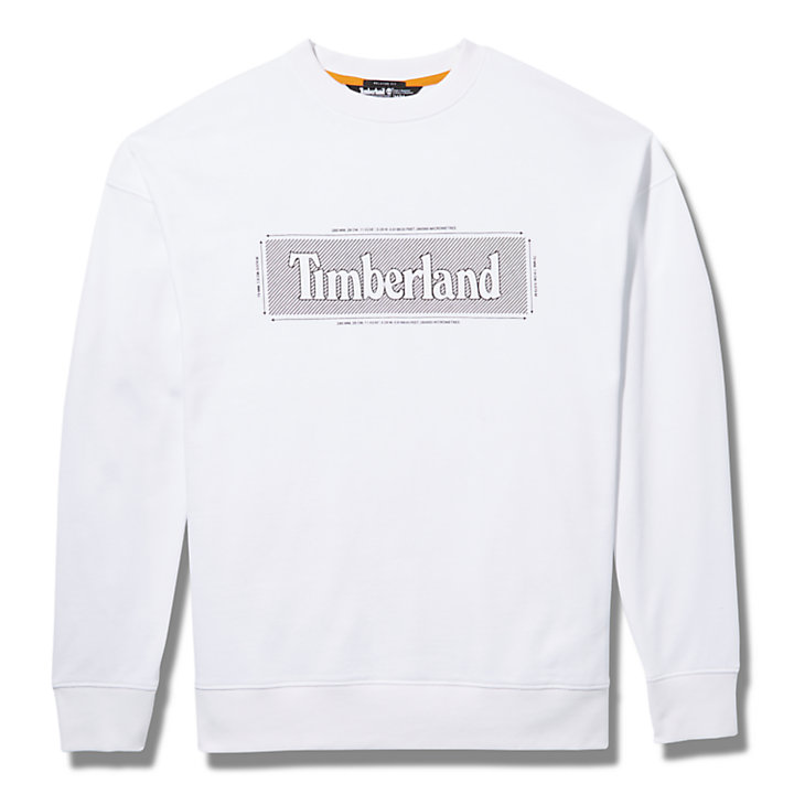 Logo Crewneck Sweatshirt voor Heren in wit-