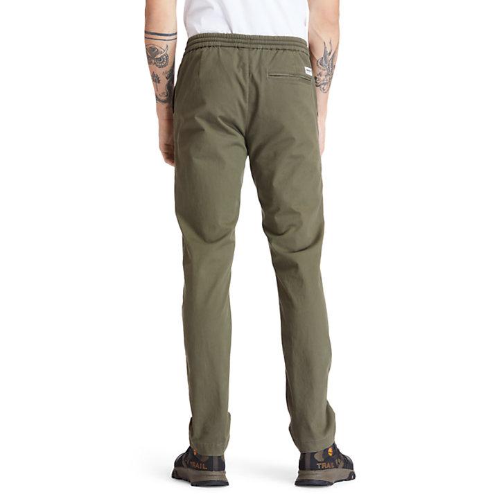 Pantalon de jogging fuselé Lovell Lake pour homme en vert foncé-