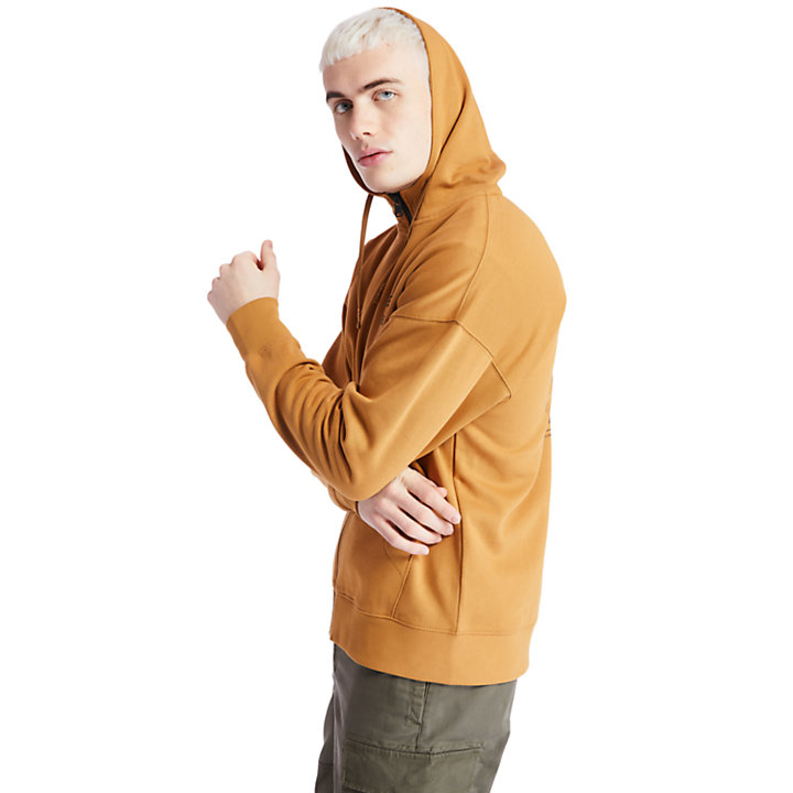 Logo Full-Zip Hoodie for Men in Yellow-