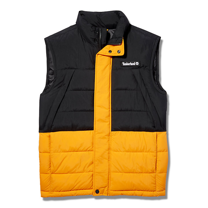 Archive Puffer Vest for Men in Black-