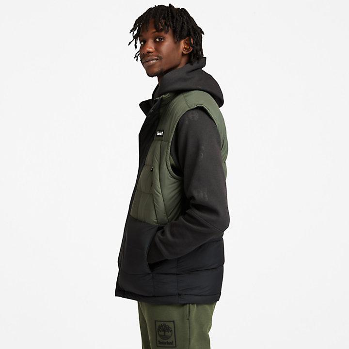 Archive Puffer Vest for Men in Dark Green-