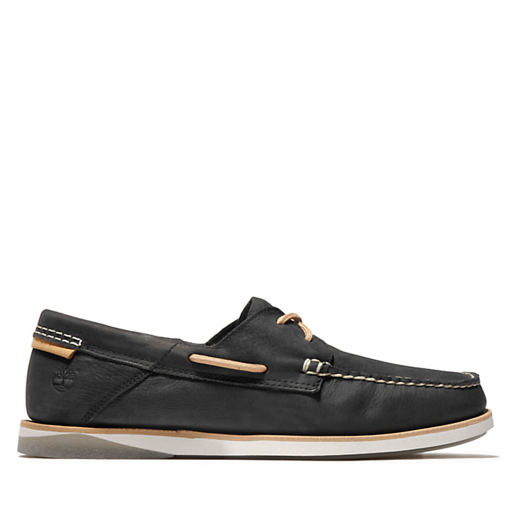 Atlantis Break Boat Shoe for Men in Black-