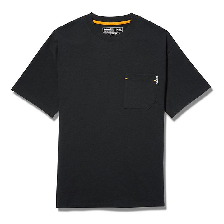 T-shirt Workwear en coton bio pour homme en noir-