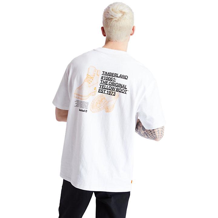 T-shirt Workwear en coton bio pour homme en blanc-