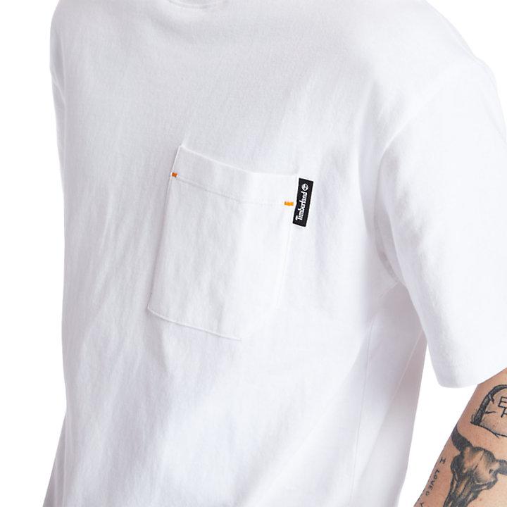 T-shirt Workwear da Uomo in Cotone Biologico in bianco-
