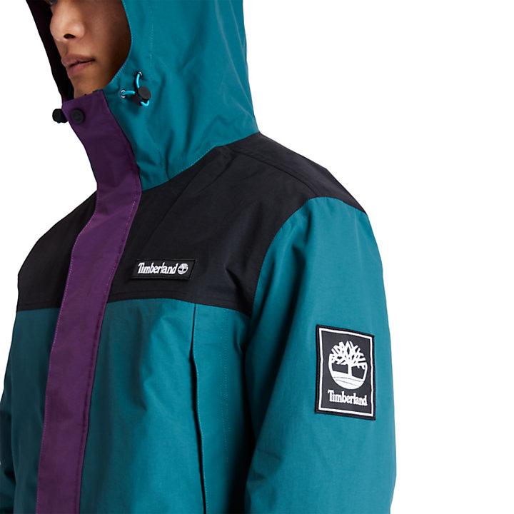 Mountain Trail Rainwear Jacket for Men in Teal-