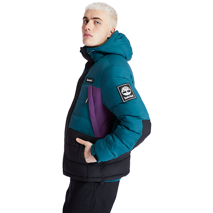 Outdoor Archive Puffer Jacket for Men in Teal-