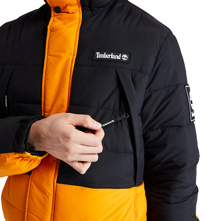 Outdoor Archive Steppjacke für Herren in Schwarz/Orange-