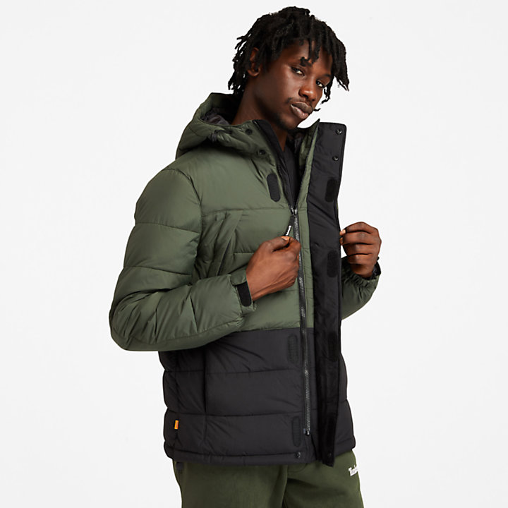 Outdoor Archive Puffer Jacket for Men in Green-