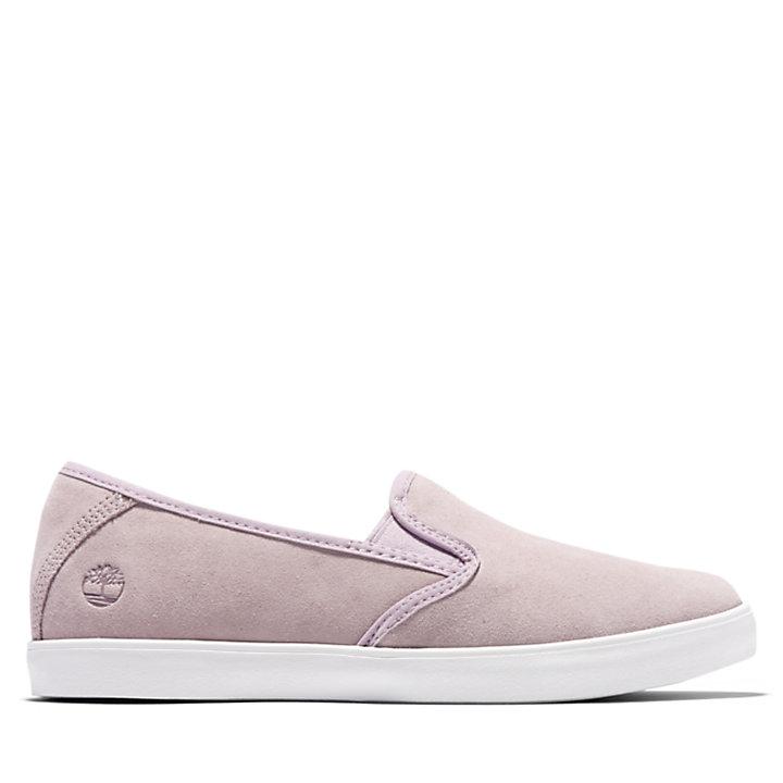 Zapatillas sin Cordones de Cuero Dausette para Mujer en lila-