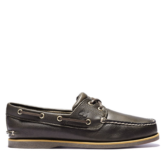 Classic Full Grain Boat Shoe for Men in Dark Brown | Timberland