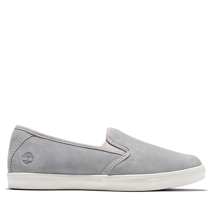 Dausette Leather Slip-On for Women in Grey-